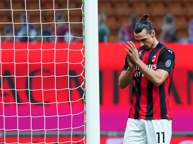 Zlatan Ibrahimovic unterlag mit AC Mailand