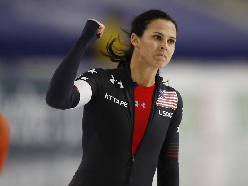 Verfehlte den Bahnrekord in der Thialf-Halle nur knapp: Brittany Bowe aus den USA