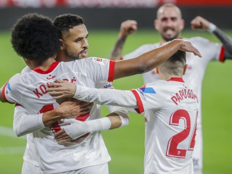 Die Spieler vom FCSevilla konnten sich in der Primera División über den 14. Saisonsieg freuen