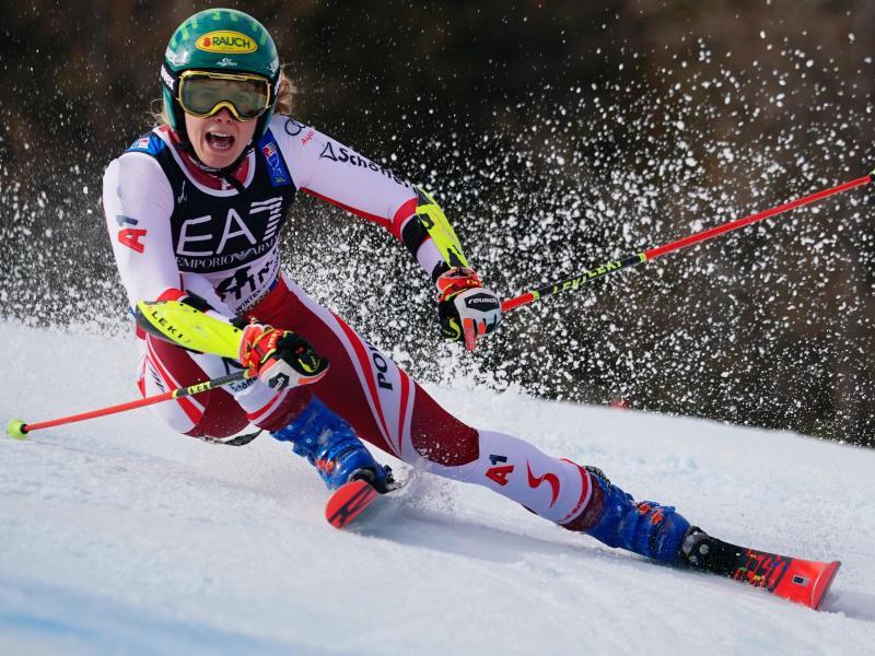 Katharina Liensberger gewann doch noch die Goldmedaille im Parallel-Event