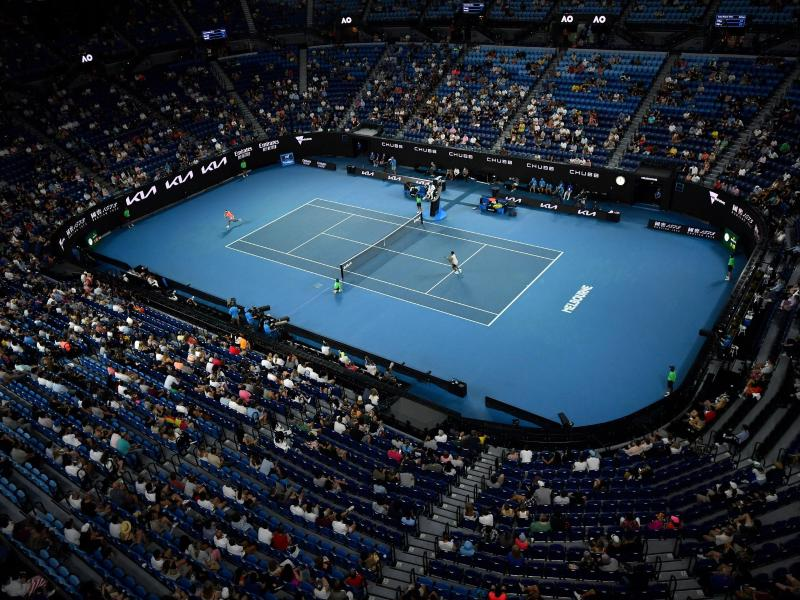 9661 Zuschauer bei den Australian Open