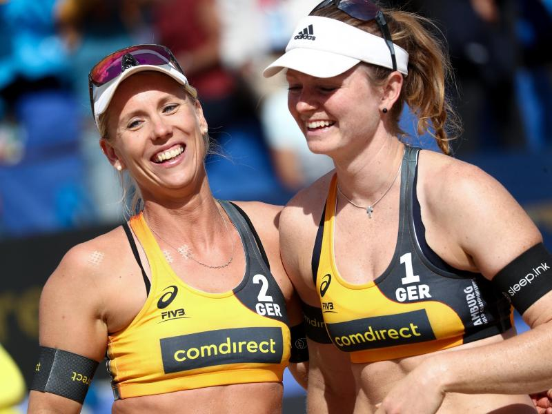 Karla Borger und Julia Sude (r.) verzichten auf einen Start beim World-Tour-Turnier in Katar.