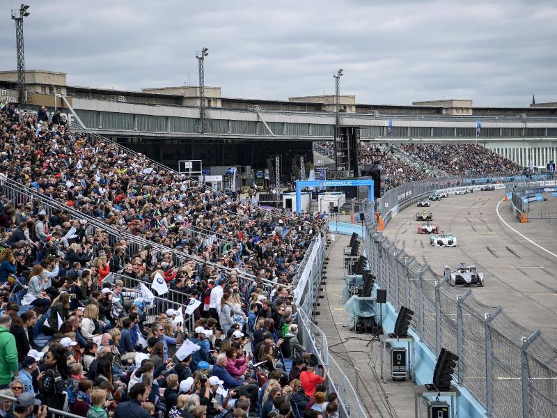 """Deutschland ist ein """"wichtiger Markt"""" für die Formel E: Rennen 2019 auf dem Flughafen Tempelhof."""