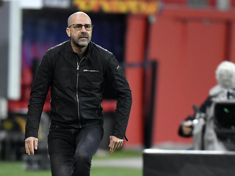 Trainer Peter Bosz ist mit Bayer Leverkusen aus der Europa League ausgeschieden