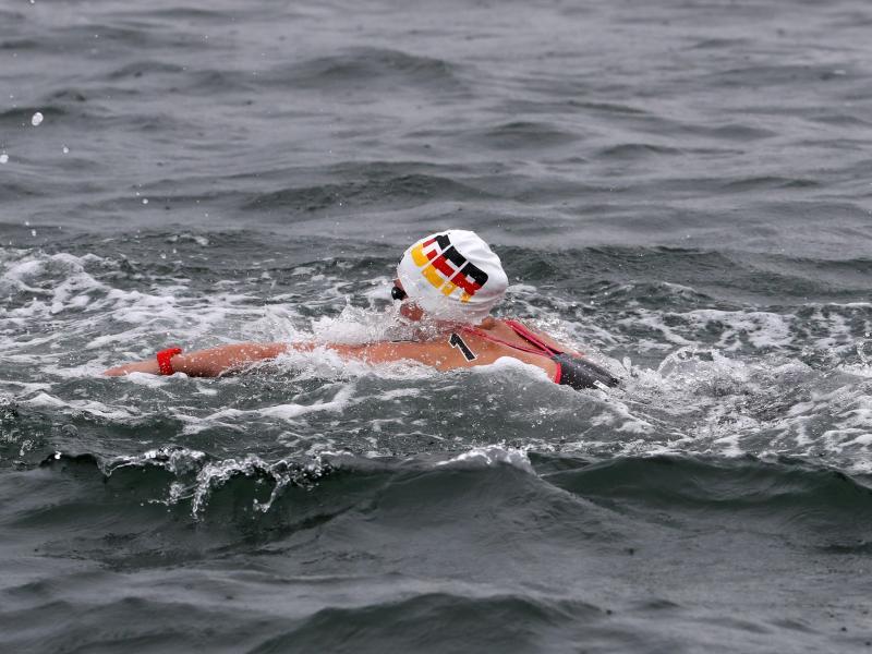 Freiwasserschwimmerin Lea Boy in ihrem Element
