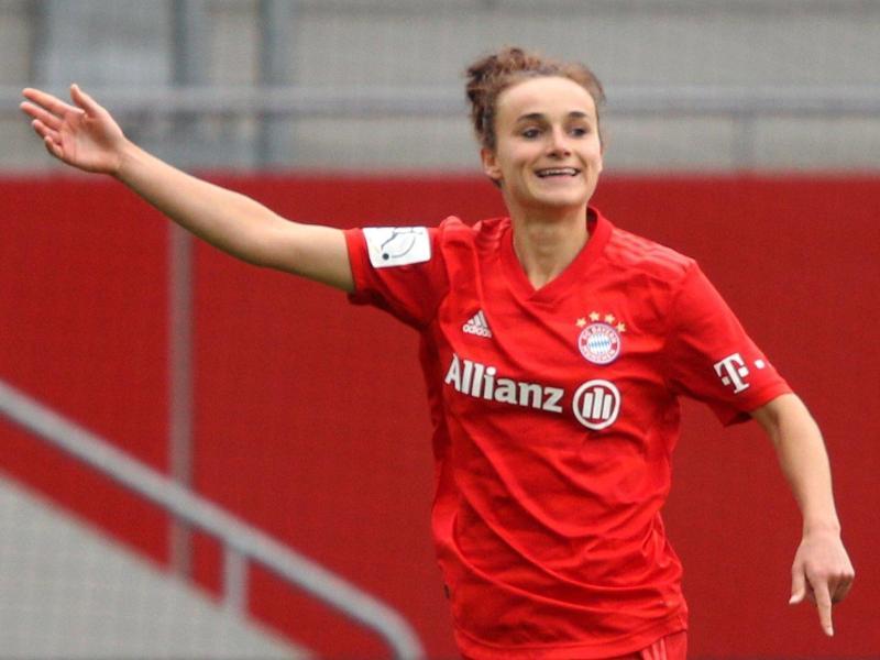 Lina Magull brachte die Bayern gegen Essen in Führung