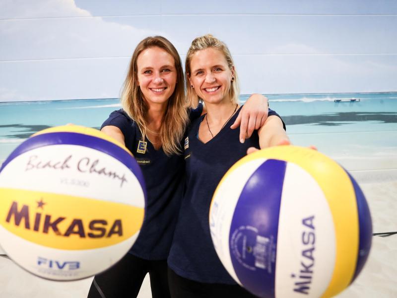 Haben durch die Corona-Krise mit einer erschwerten Olympia-Vorbereitung zu kämpfen:Margareta Kozuch und Laura Ludwig (r.)