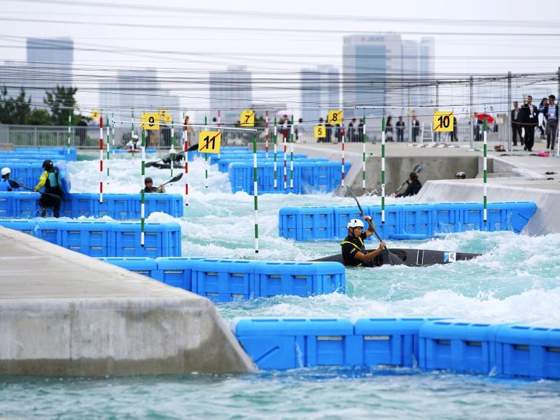 Das Kasai Canoe Slalom Center soll Austragungsort der Kanu-Slalomwettbewerbe bei den Olympischen Spielen in Tokio sein