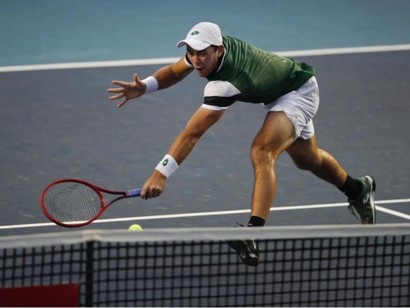 Hat sich für das Masters-Tennisturnier in Monte Carlo qualifiziert: Dominik Koepfer in Aktion