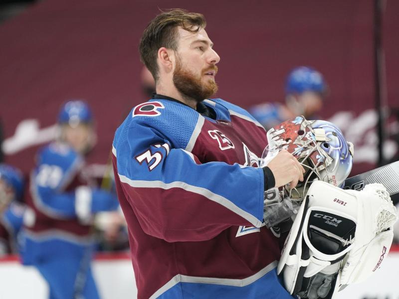 Torwart Philipp Grubauer von den Colorado Avalanche steht auf der Corona-Liste der NHL