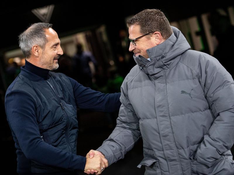Adi Hütter (l.) wird neue Trainer bei Borussia Mönchengladbach