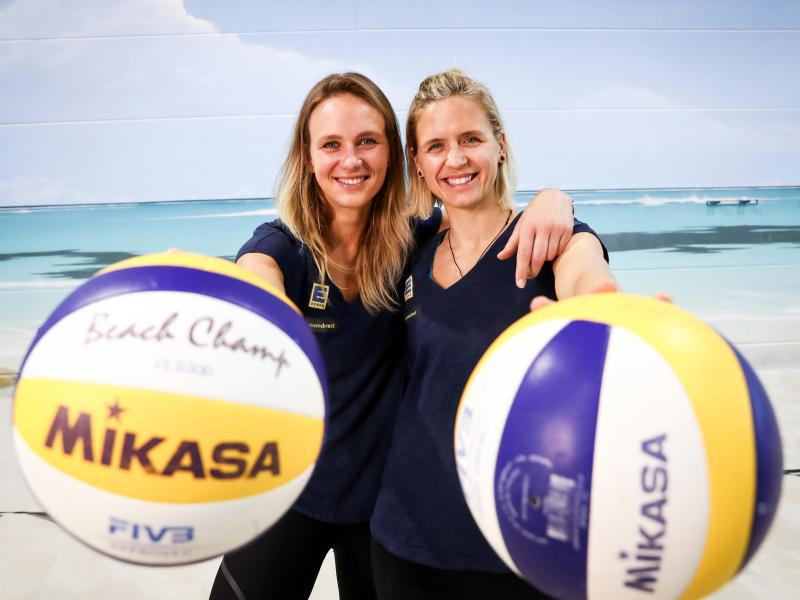 Margareta Kozuch und Laura Ludwig (r.) haben das Olympia-Ticket für Tokio praktisch sicher.