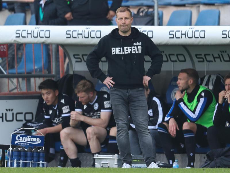 Hat trotz verpassten Sieges gegen Hoffenheim mit Bielefeld den Klassenerhalt in der eigenen Hand: Arminia-Coach Frank Kramer