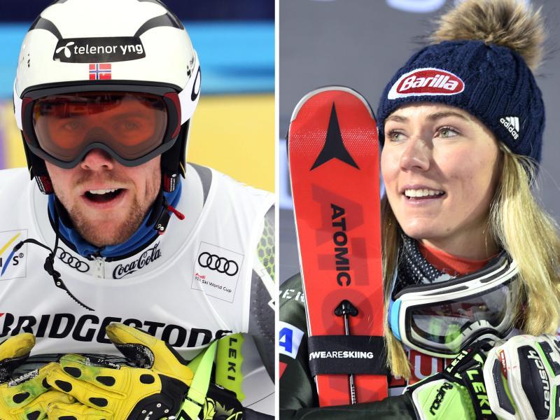 Sind ein Paar: Aleksander Aamodt Kilde (l) und Mikaela Shiffrin