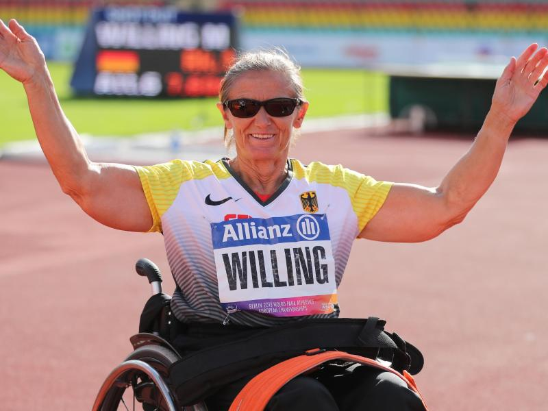 Mit 61 Jahren mitAbstand älteste Teilnehmerin im nur 16 Athleten umfassenden deutschen Aufgebot: Martina Willing