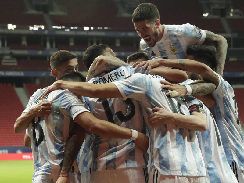 Argentinien jubelt über den Sieg gegen Uruguay
