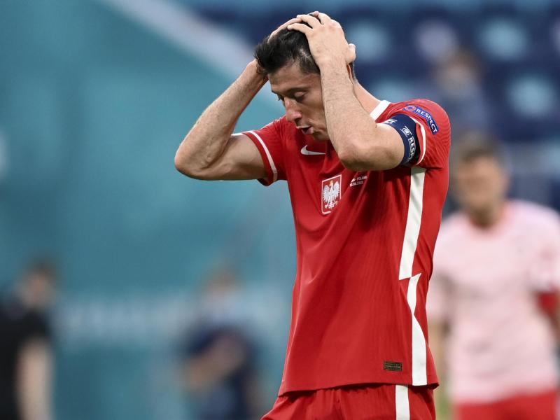 Für Robert Lewandowski und seine Polen ist die EM bereits nach der Vorrunde beendet