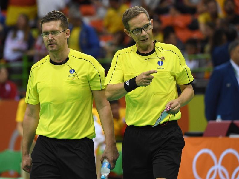Hören als Schiedsrichter-Duo auf: Marcus Helbig (r.) und Lars Geipel (l.)