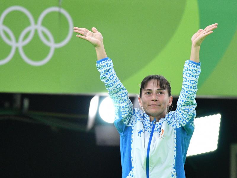 Turnerin Oksana Chusovitina startet zum achten Mal bei den Olympischen Spielen