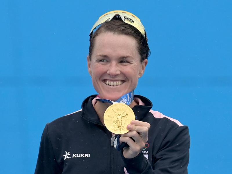 Triathletin Flora Duffy ist die erste Olympiasiegerin aus Bermuda