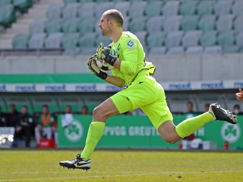 Hat sich beim Training des Karlsruher SC verletzt: Torwart Marius Gersbeck in Aktion