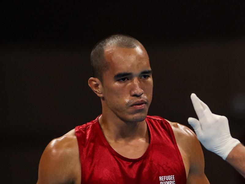 Vorerst heimatlos: Eldric Sella Rodriguez, Boxer vom Refugee Olympic Team (EOR)