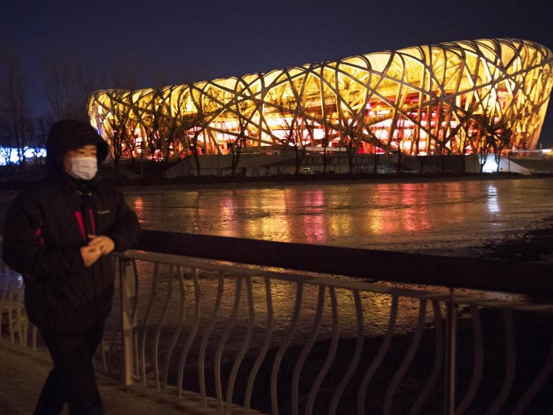 """Die Olympischen Winterspiele 2022 in Peking sollen unter dem Motto """"Zusammen für eine gemeinsame Zukunft"""" stehen"""
