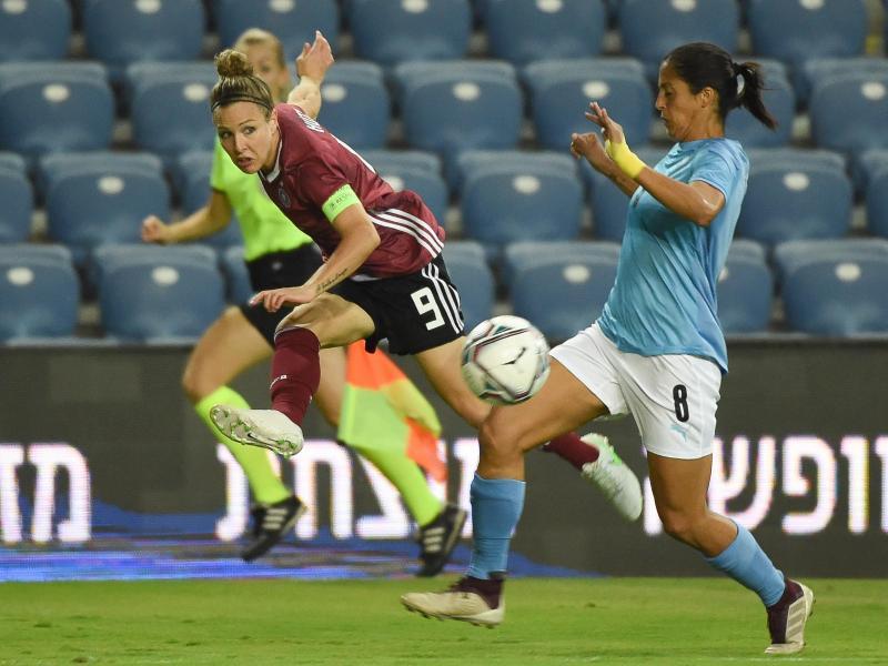 Kapitänin Svenja Huth erzielte den einzigen Treffer gegen Israel