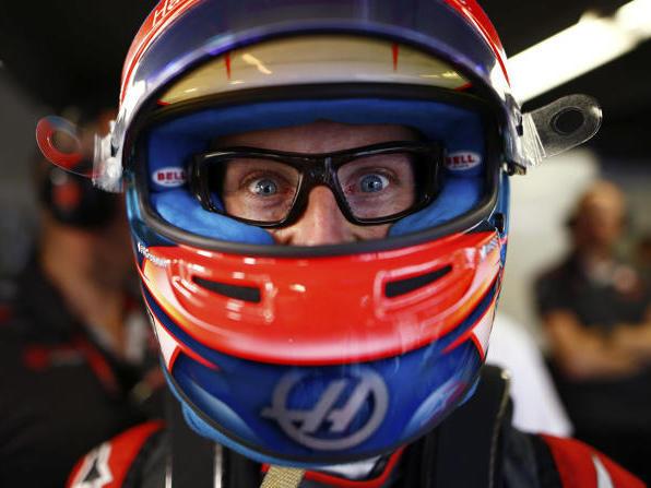 Romain Grosjean mit der Kamerabrille: Das Tragen war für ihn eine Qual