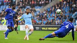 Gegen Cardiff erzielte Ilkay Gündogan (m.) ein Traumtor