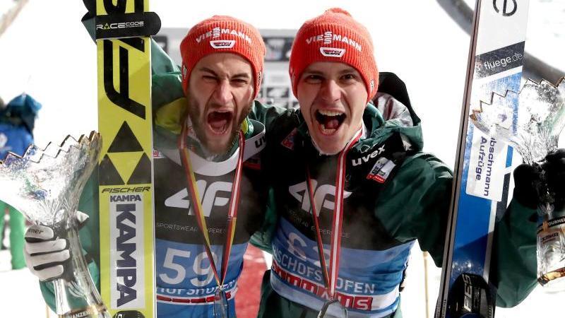 Markus Eisenbichler und Stephan Leyle sprangen bei der Vierschanzentournee auf das Podest
