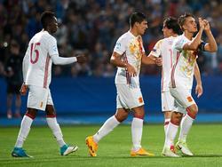 Celebración del gol de Suárez. (Foto: Imago)