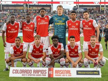 Once del Arsenal ante Colorado Rapids.