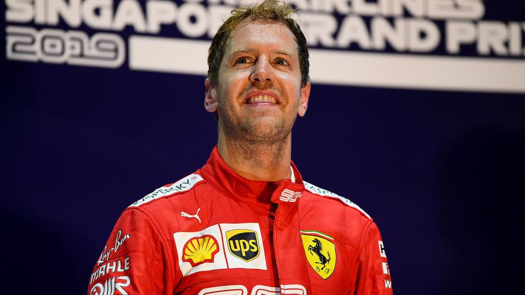 Singapur-Sieger Sebastian Vettel zeigte sich sichtlich zufrieden