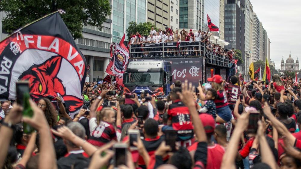 Flamengo-Fans feiern ihre Titelhelden