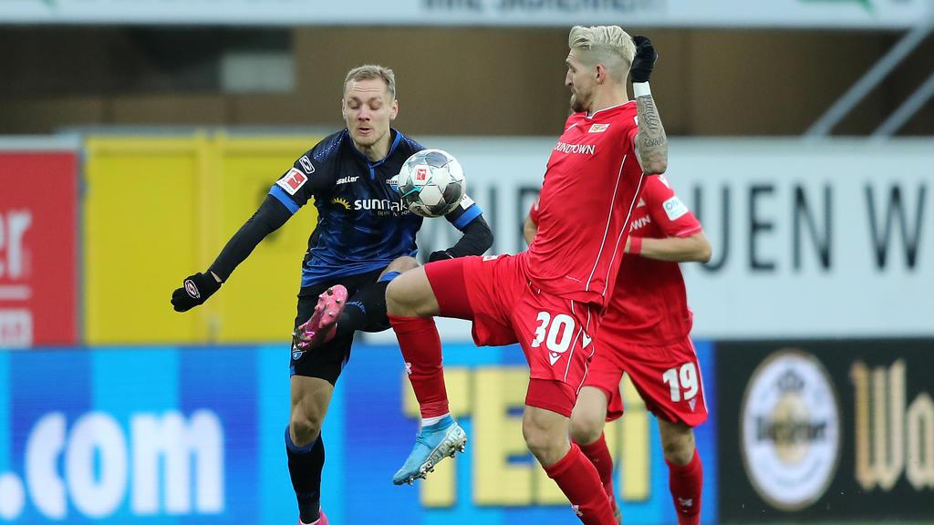 Der SC Paderborn und Union Berlin trennten sich unentschieden