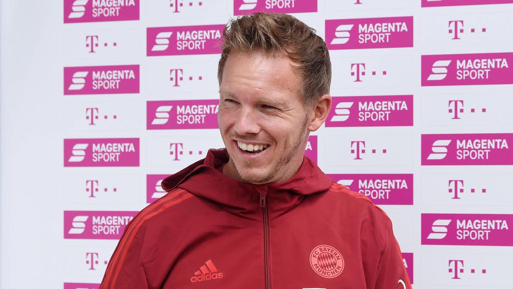 Julian Nagelsmann scheint Spaß an seinem Job beim FC Bayern zu haben