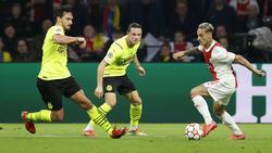Ajax-Profi Antony (r.) überragte gegen den BVB
