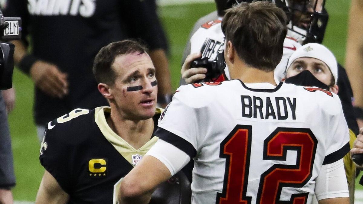 Drew Brees (l.) unterlag mit seinen New Orleans Saints