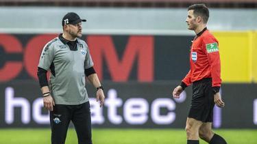 Steffen Baumgart rastete nach der Gelb-Roten Karten gegen seinen Spieler aus