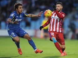 Damián Suárez en un partido del Getafe en Primera División. (Foto: Getty)