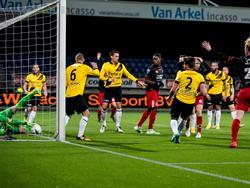 Volgens de arbitrage tijdens Excelsior - NAC Breda in de achtste finale van de KNVB beker zou deze bal de doellijn zijn gepasseerd. (18-12-2014).
