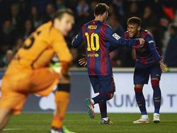 Messi und Neymar schenkten Elche Tyton jeweils doppelt ein