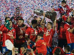 Chiles Kicker feiern nach dem Sieg in der Copa América 2015