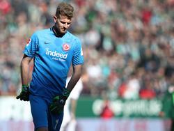 Frankfurt-Keeper Lukás Hrádecký leistete sich einen dicken Bock gegen Werder Bremen