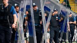Sicherheitskräfte sind beim Stadtderby zwischen Besiktas und Fenerbahce obligatorisch