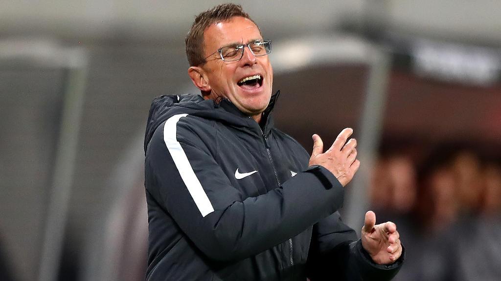 Ralf Rangnick und RB Leipzig feierten einen wichtigen 2:0-Sieg gegen Celtic