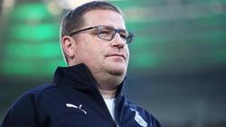 War nach seiner OP wieder bei einer Pressekonferenz von Borussia Mönchengladbach dabei: Sportdirektor Max Eberl