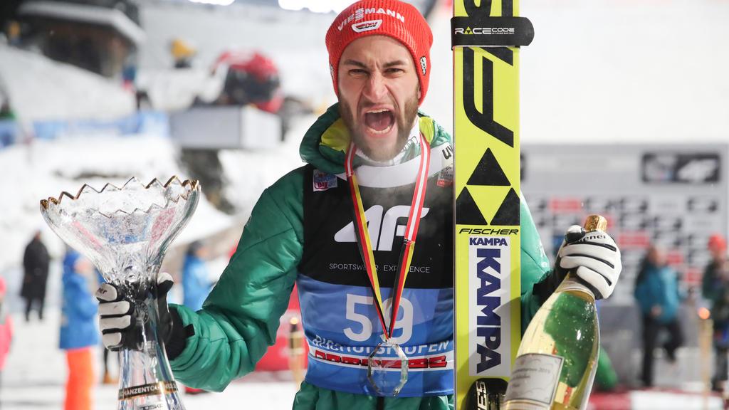 Markus Eisenbichler sprang bei der Vierschanzentournee auf Rang zwei