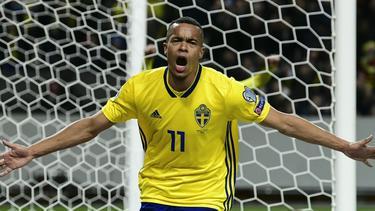 Robin Quaison brachte Schweden auf die Siegerstraße